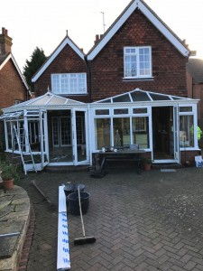 Conservatory before window, doors & roof replacement