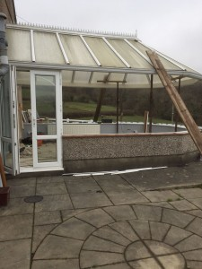 Conservatory before window & roof replacement