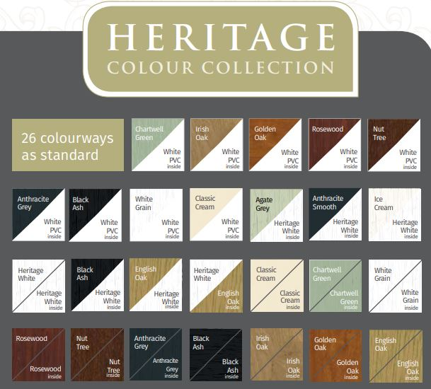 Heritage uPVC Colour Collection